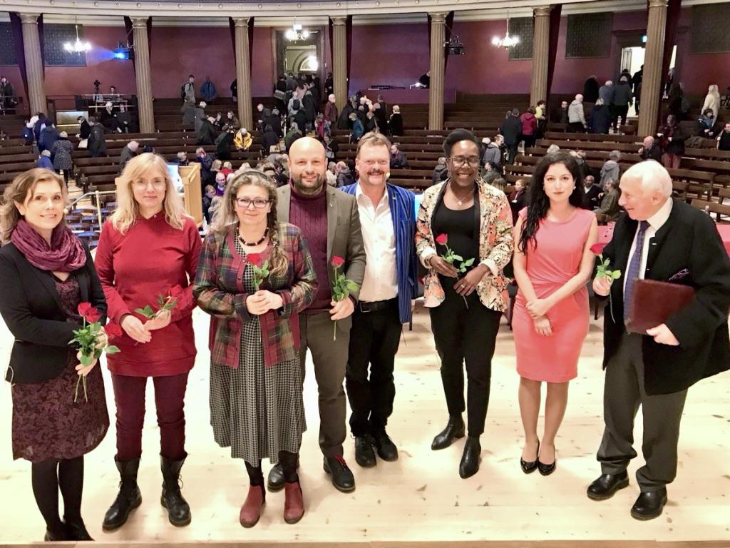 Panelsamtal i Universitetsaulan, Uppsala, 2018