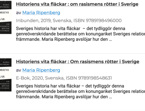 """Nu kan """"Historiens vita fläckar"""" läsas digitalt!"""