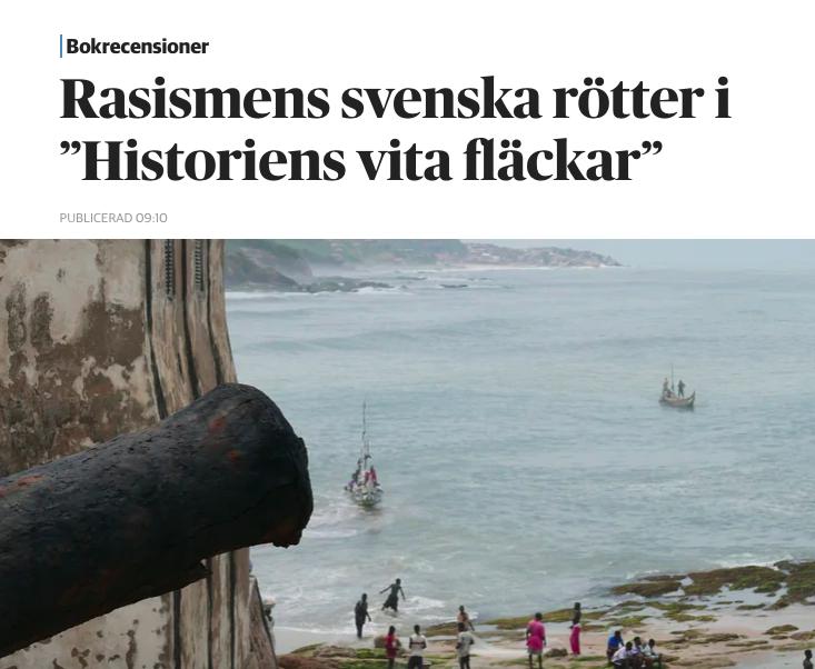 """DN recenserar """"Historiens vita fläckar"""""""
